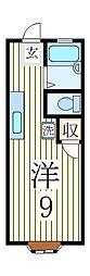 ロジュマンクレール[2階]の間取り