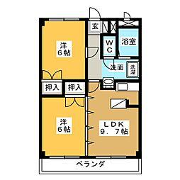 パークハウス梅森[2階]の間取り