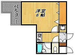 ダイナコート大博通り[12階]の間取り