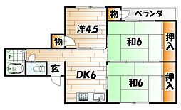 AC井堀[405号室]の間取り
