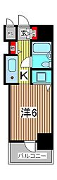 スカイコート西川口第5[10階]の間取り