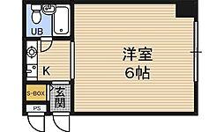 レジデンス福島[2階]の間取り