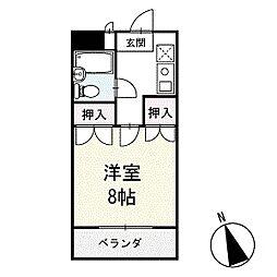 サンパール脇田D棟 1階[102号室]の間取り