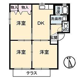 アルファ パーク A棟[2階]の間取り