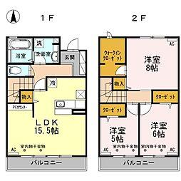 メゾンワリマ[1階]の間取り