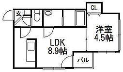 アメーノカーサ[1階]の間取り