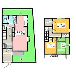 [テラスハウス] 愛知県名古屋市昭和区五軒家町 の賃貸【愛知県 / 名古屋市昭和区】の間取り