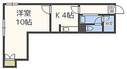 セザール西線[1階]の間取り