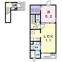 モスアゲート[2階]の間取り