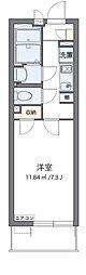 名鉄名古屋本線 山王駅 徒歩13分の賃貸マンション 1階1Kの間取り