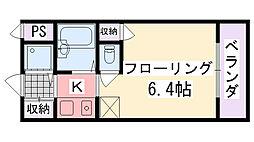 ジョイフル武庫川[301号室]の間取り