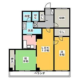 アパルトメント栄5[7階]の間取り