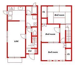 レイモンドハウスC棟[3号室]の間取り