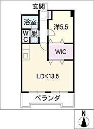 第三富士マンション[4階]の間取り
