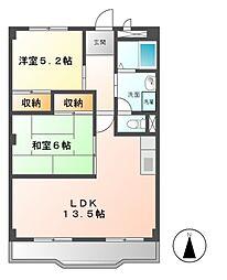 愛知県名古屋市緑区小坂2の賃貸マンションの間取り