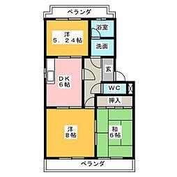 シャトレーンIII[2階]の間取り