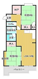静岡県浜松市東区植松町の賃貸マンションの間取り