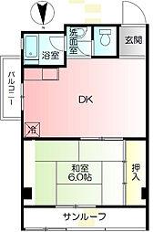 神奈川県横浜市戸塚区柏尾町の賃貸マンションの間取り
