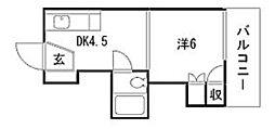 飯田コーポラス[3階]の間取り