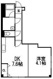 ワンフラットビル[3階]の間取り