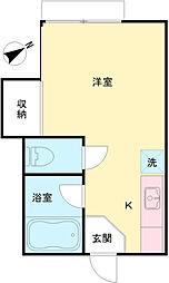 東京都日野市程久保1丁目の賃貸アパートの間取り