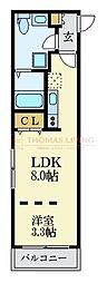 福岡市地下鉄空港線 唐人町駅 徒歩5分の賃貸マンション 1階1LDKの間取り