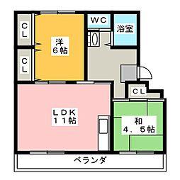 稲川ハイツ[1階]の間取り