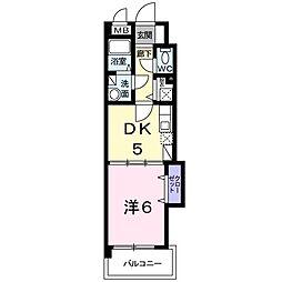カーサgialla[4階]の間取り