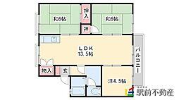 オブジュダールSHIBATA A棟[202号室]の間取り