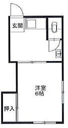 金井荘[2階]の間取り