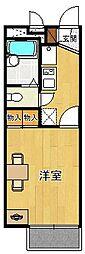 レオパレスKAMISHO[203号室]の間取り
