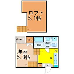 felice新栄(フェリーチェシンサカエ)[1階]の間取り
