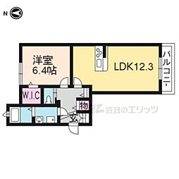 京阪本線 龍谷大前深草駅 徒歩3分の賃貸マンション 1階1LDKの間取り