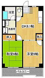 石神井スカイビル[5階]の間取り