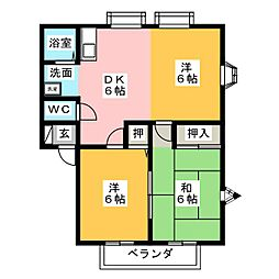 MEMORIAL KAMIYA C棟[2階]の間取り