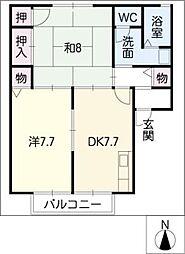 コーワハイツ[2階]の間取り