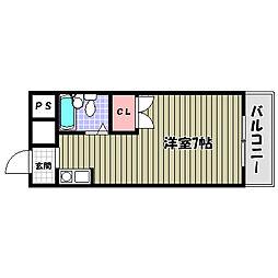 エレガンス北野田[3階]の間取り