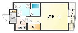 大阪府門真市速見町の賃貸マンションの間取り