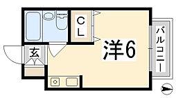 OMレジデンス姫路[3階]の間取り