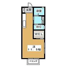 サンライズA[1階]の間取り