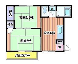 グリーンコーポ栄[1階]の間取り