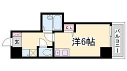 ヒューネット神戸元町通[6階]の間取り
