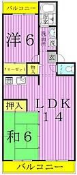 エスポアール如春堂[203号室]の間取り