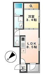 メゾン・ド・サントリナ[3階]の間取り