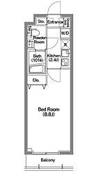 メディオ月島[208号室]の間取り
