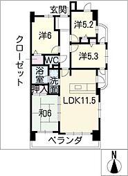 ライオンズマンション宮根台404号[4階]の間取り