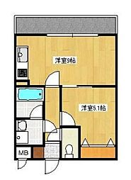 ヴィディヤ湘南台[2階]の間取り