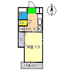 パールハイツ(百石町)[2階]の間取り