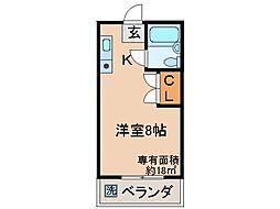 京都府城陽市平川車塚の賃貸マンションの間取り