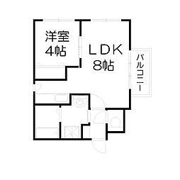 北海道札幌市中央区宮の森二条4丁目の賃貸マンションの間取り